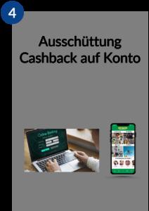 Ausschüttung Cashback auf Konto