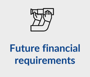 Future financial requirements