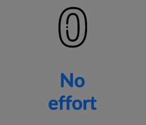 No effort
